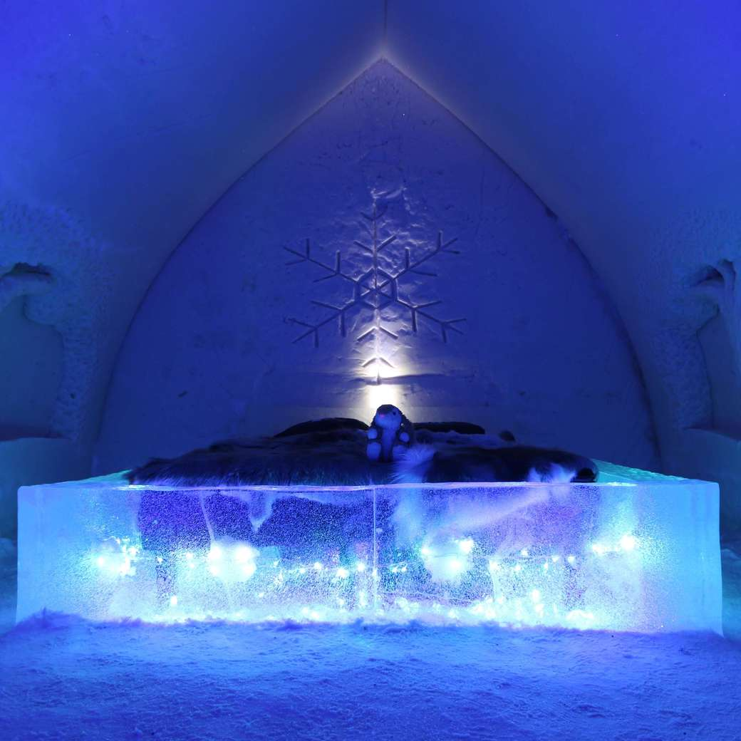 Image of a snow hotel suite