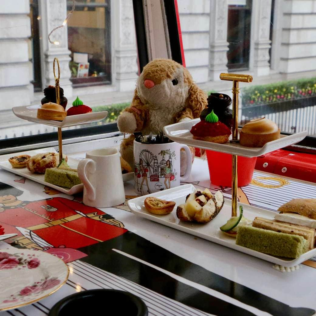 Bunny on the afternoon tea bus