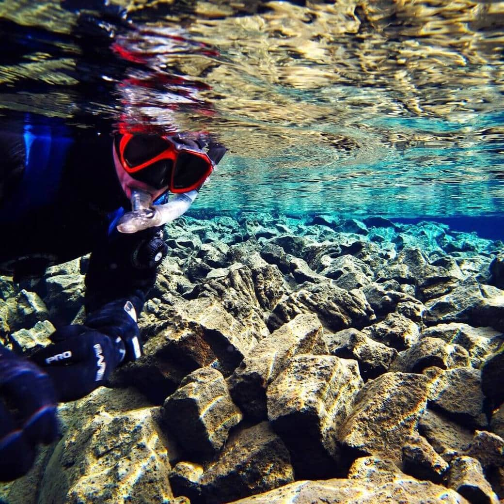 Image of snorkelling at Silfra