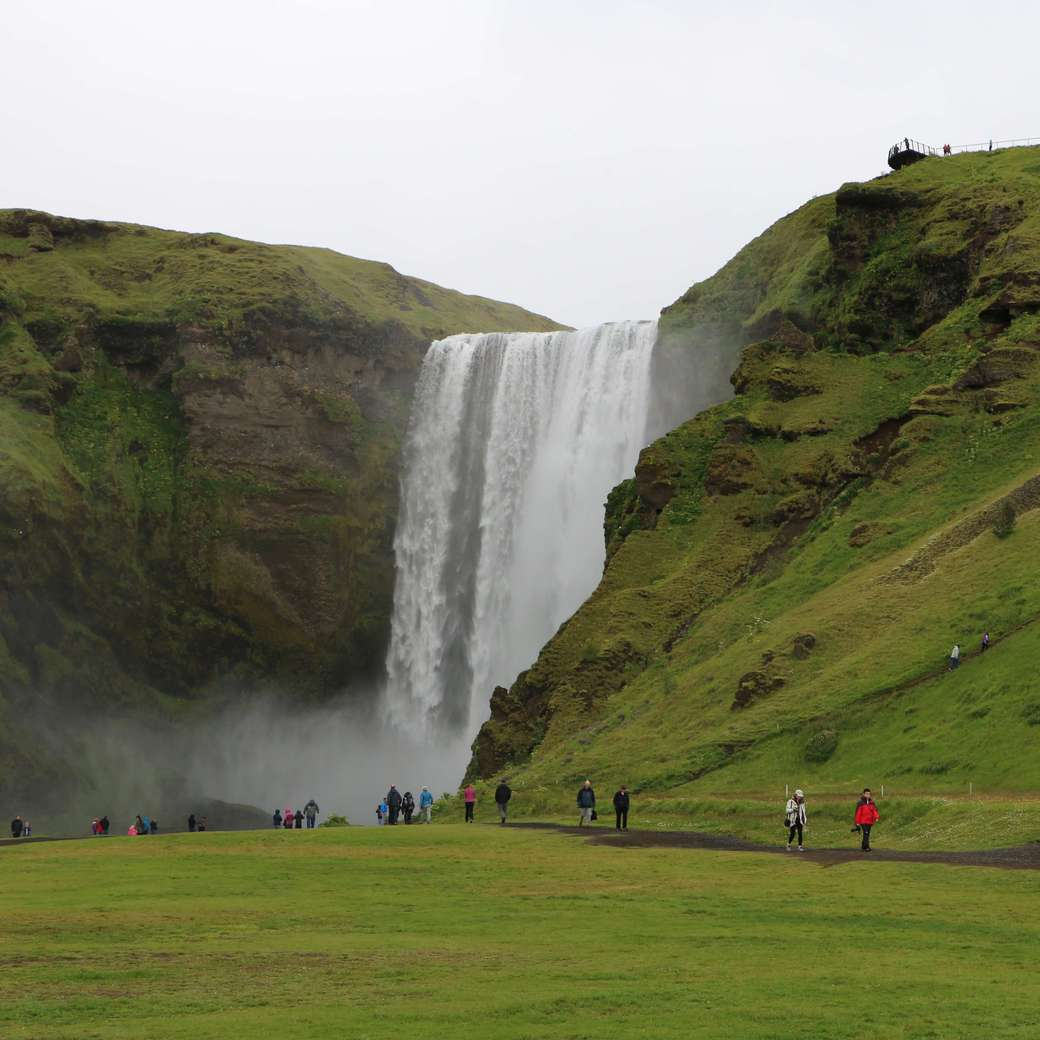 Image of Skogafoss waterfalls