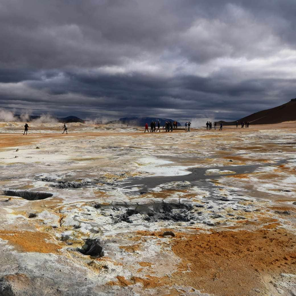 Image of geothermal area of Hverir