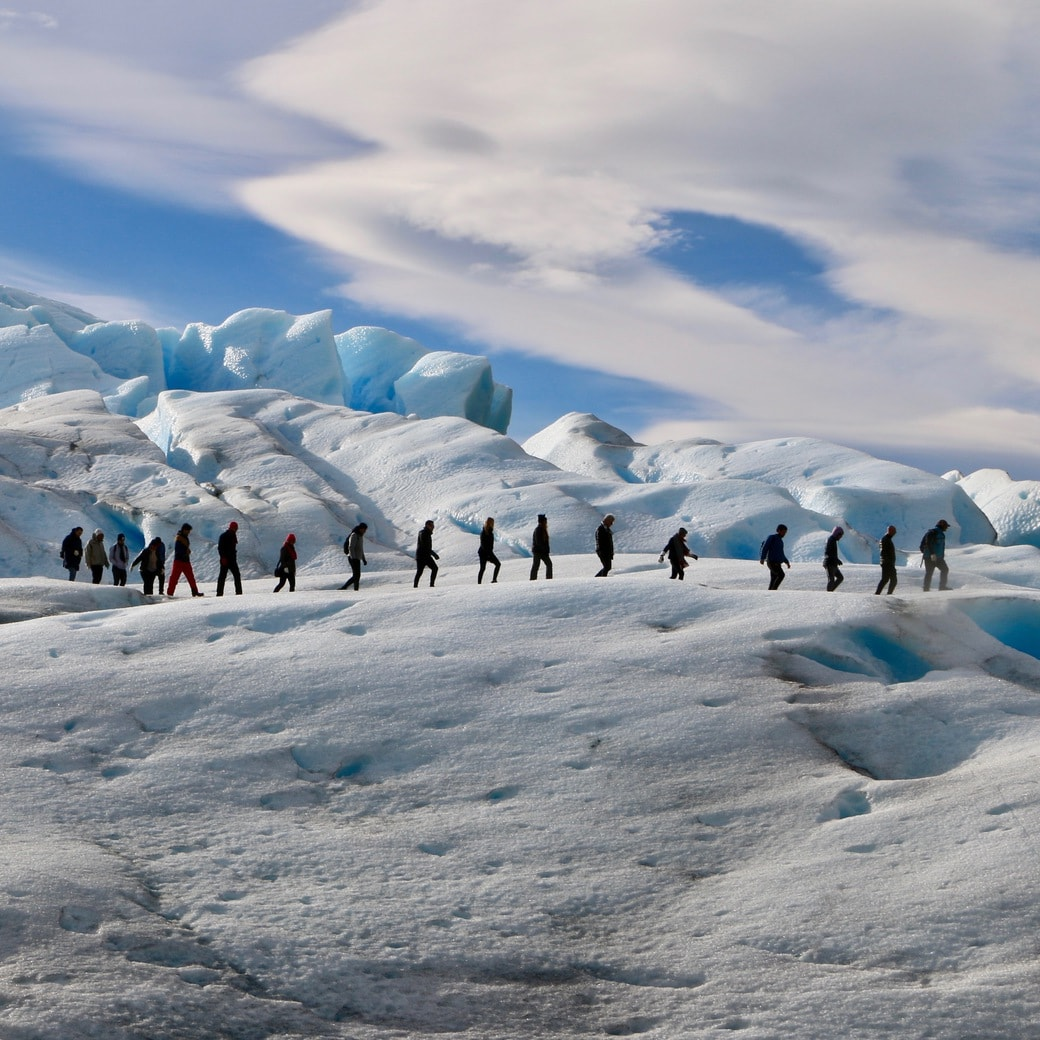 Image of ice-trekking