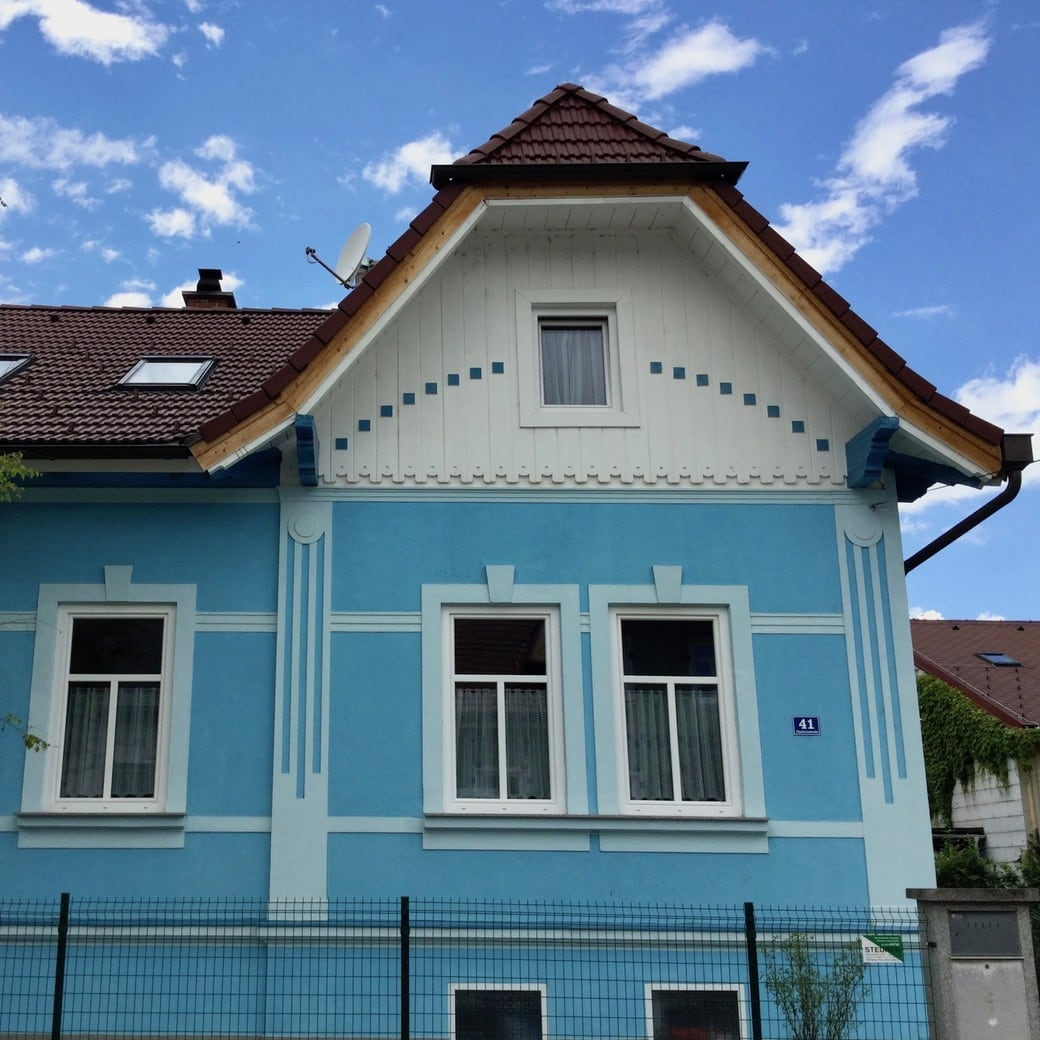 Image of blue house