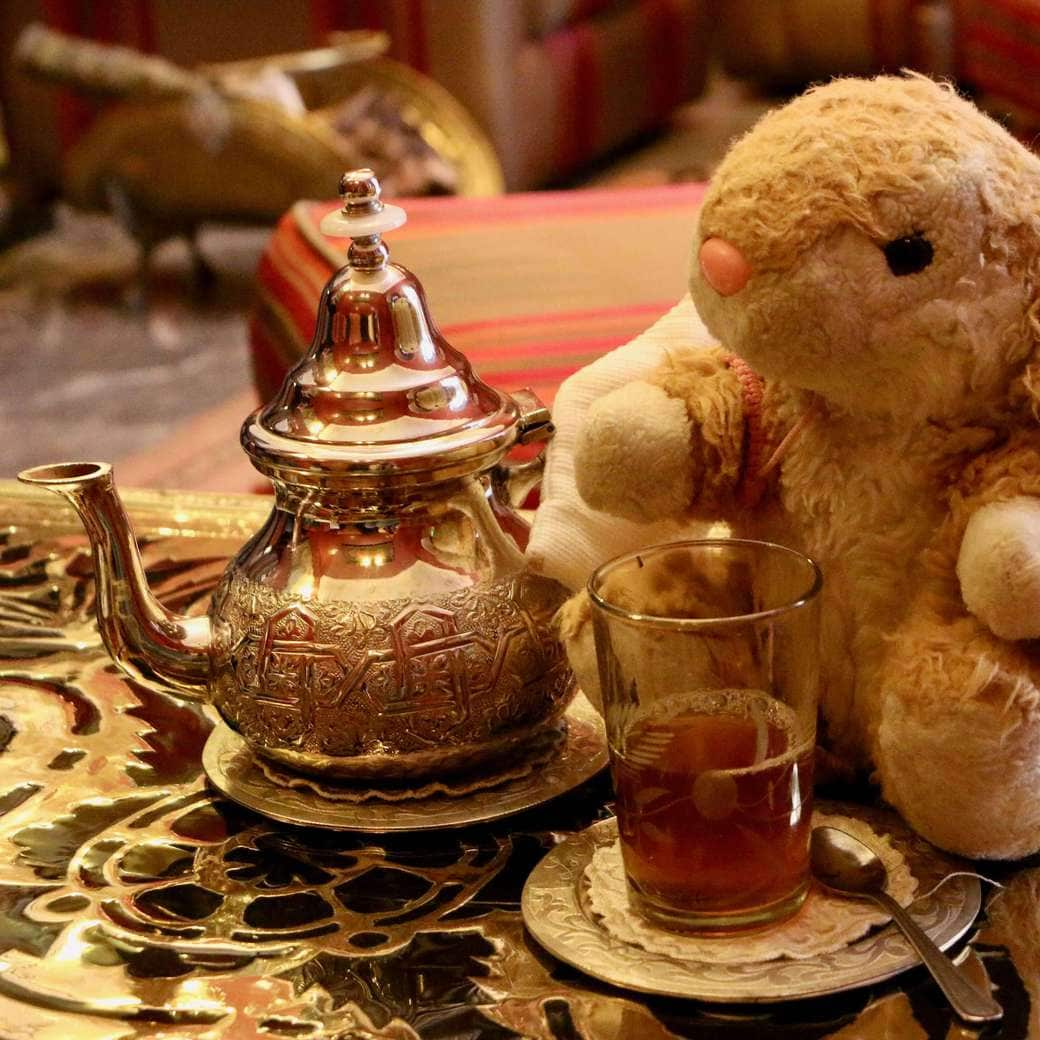 Image of Bunny with tea