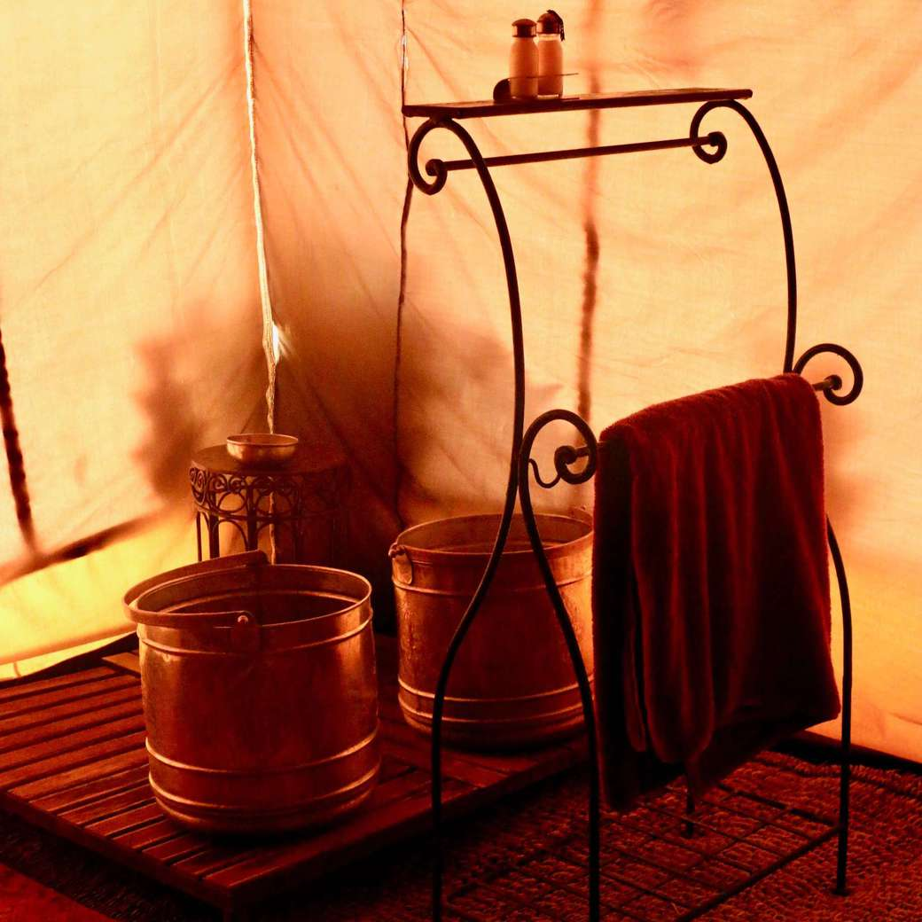 Image of tent bathroom