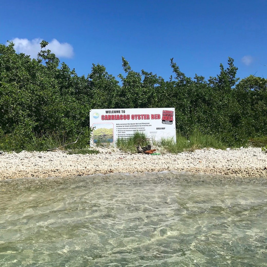 Image of oyster bed sign