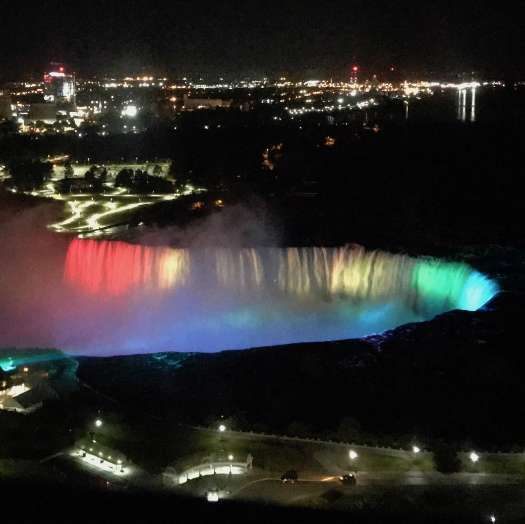Image of Niagara Falls at night