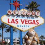 Bunny at Las Vegas sign