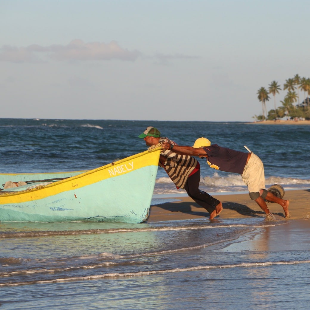 Image of fishermen at work