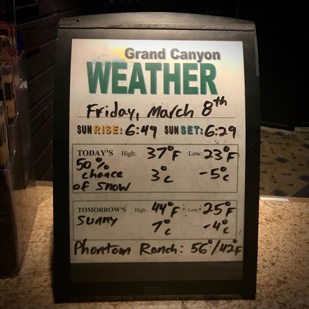 Image of weather forecast
