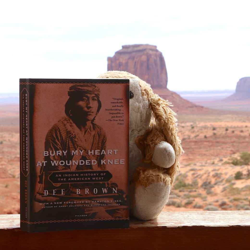 Bunny's reading material in Monument Valley