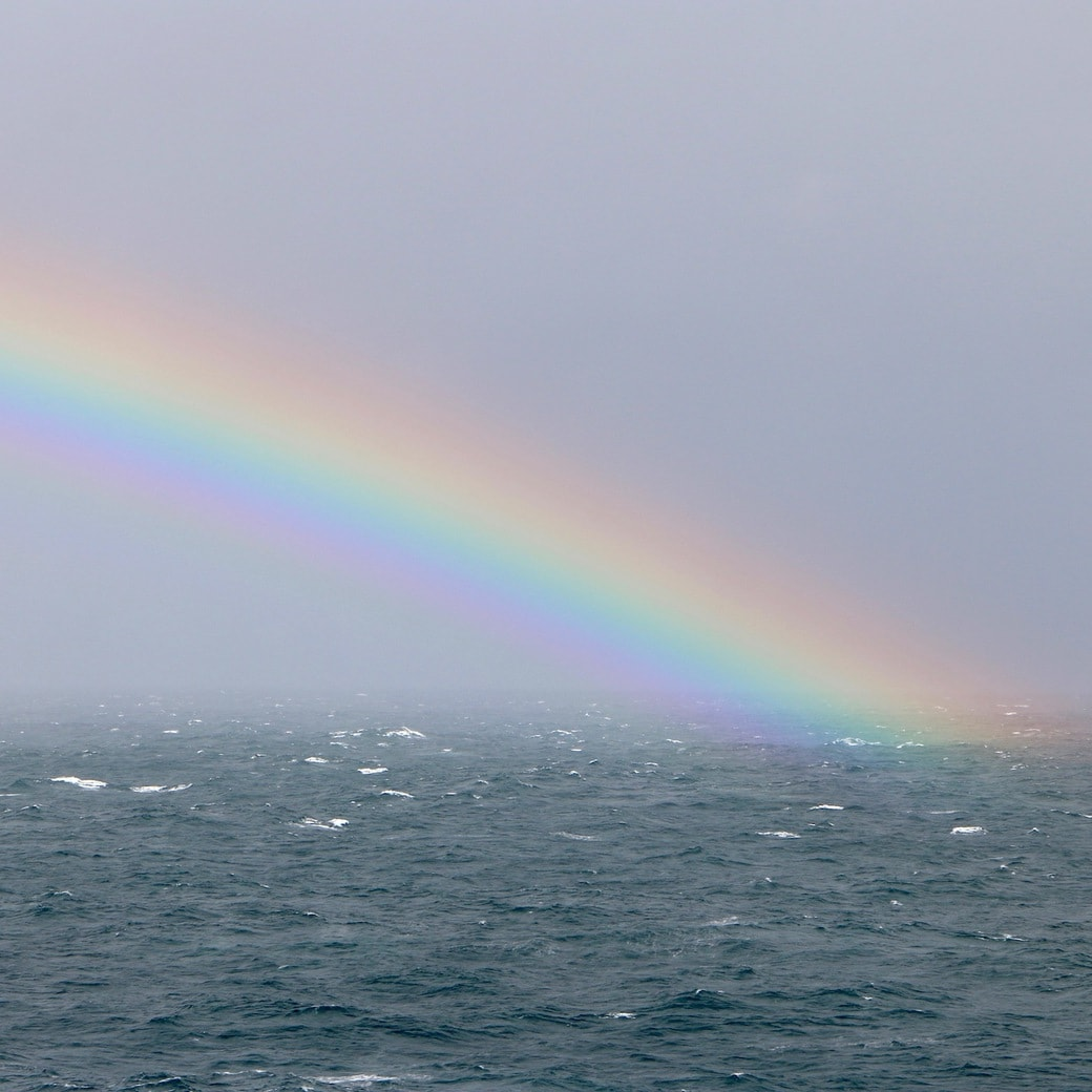 Rainbow spotted from the ship