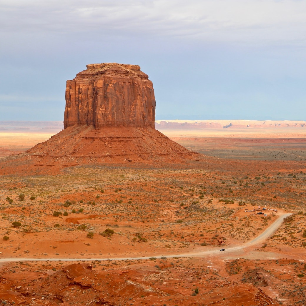 Gravel road in Monument Valley