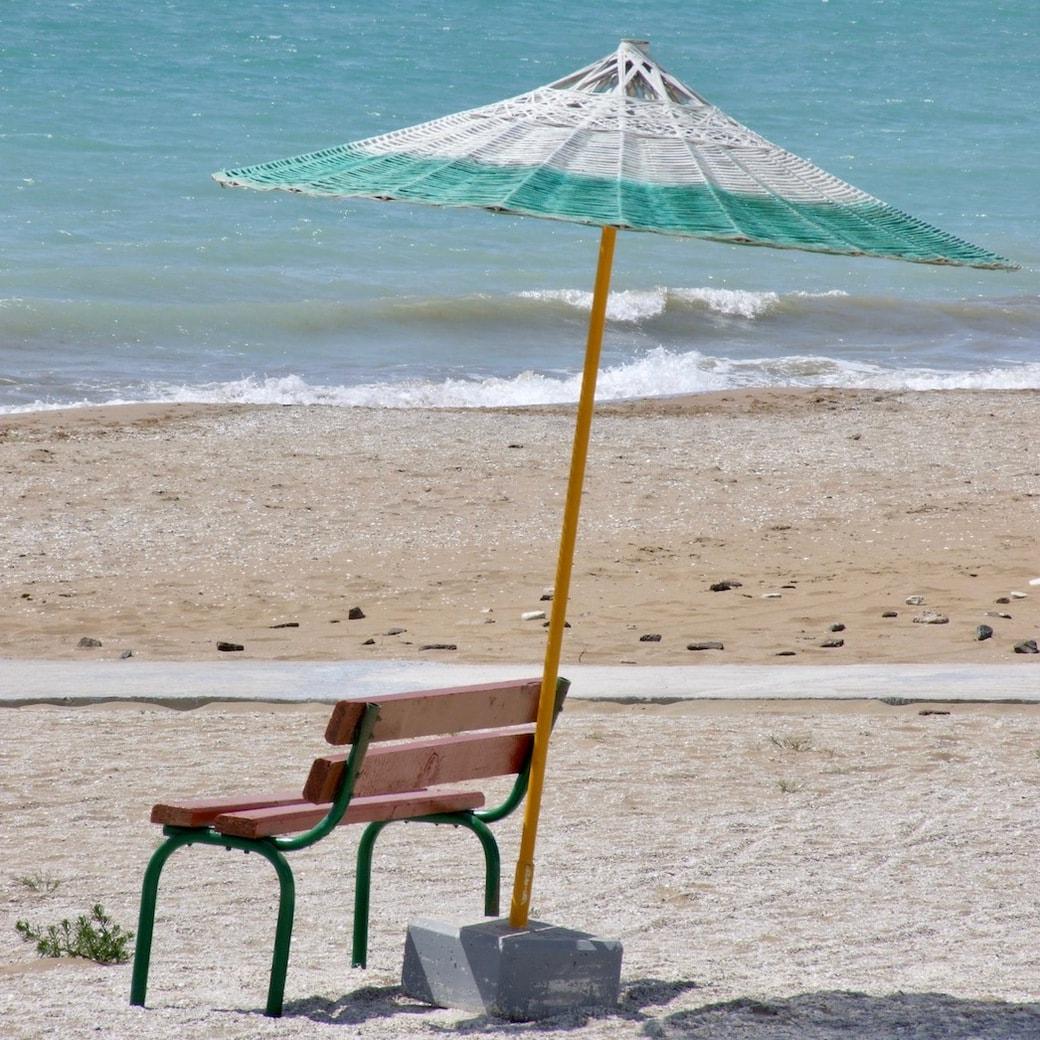 Caspian Sea beach life