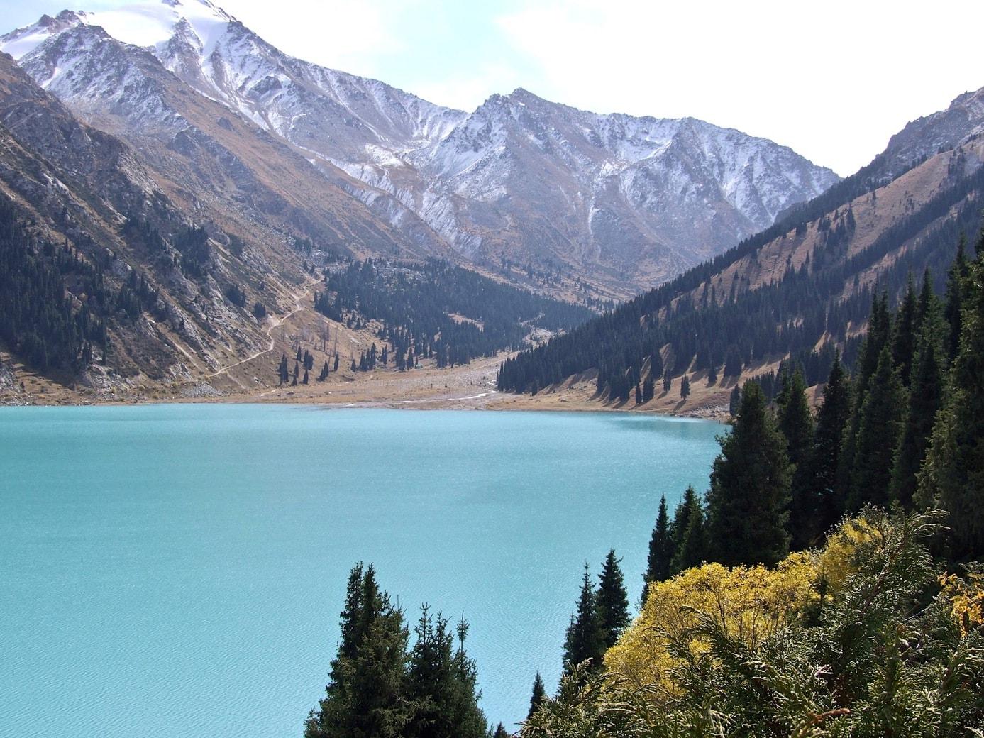 Scenery at Big Almaty Lake in Kazakhstan