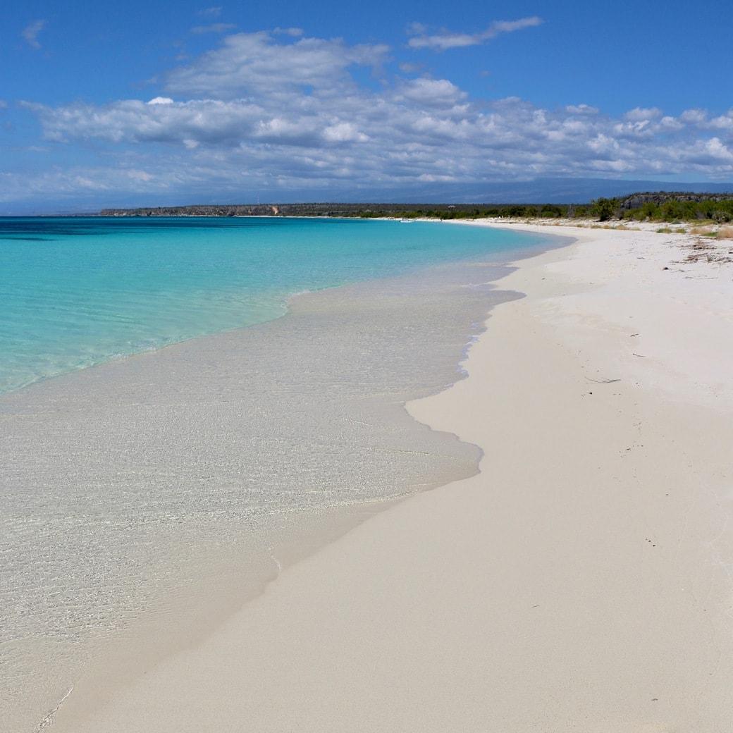 White sand at Bahia de las  Aguilas