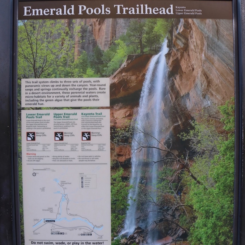 Emerald Pools in Zion NP