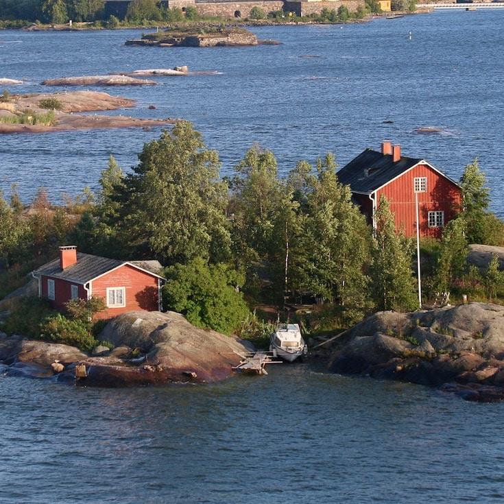 Approaching Helsinki on the ferry