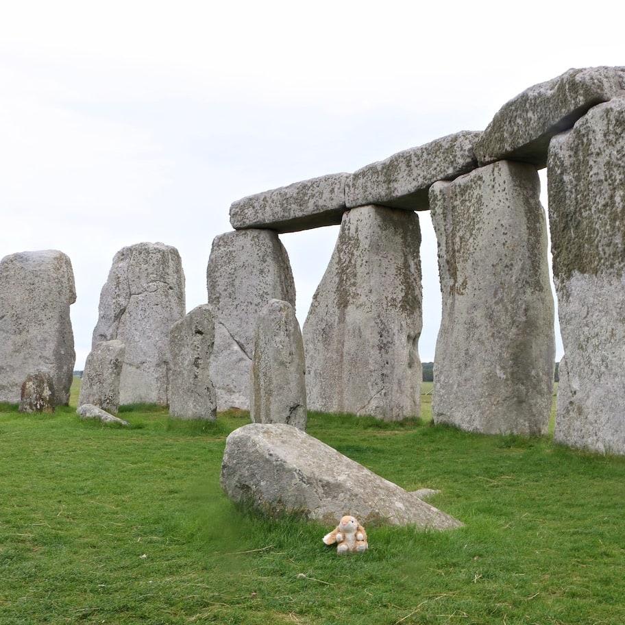 Bunny inside the stone circle at Stonehenge