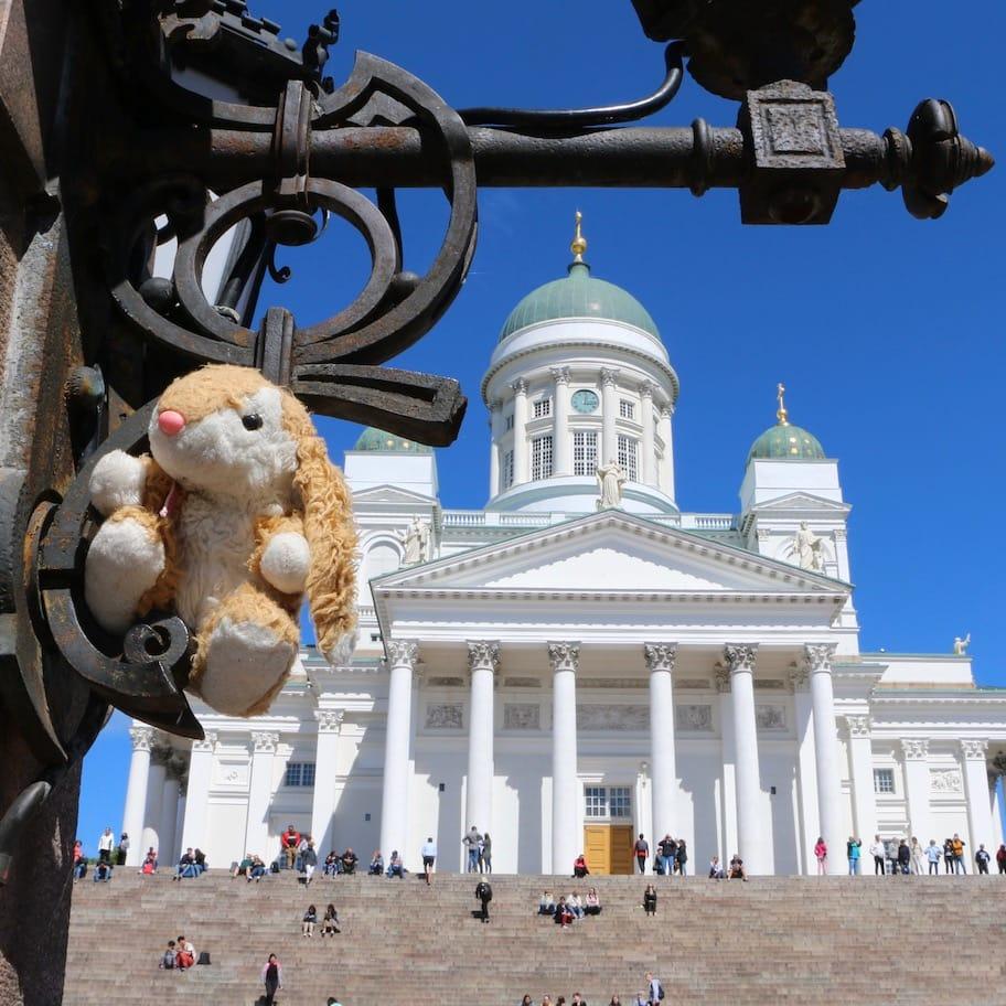 Bunny in Helsinki Senate Square