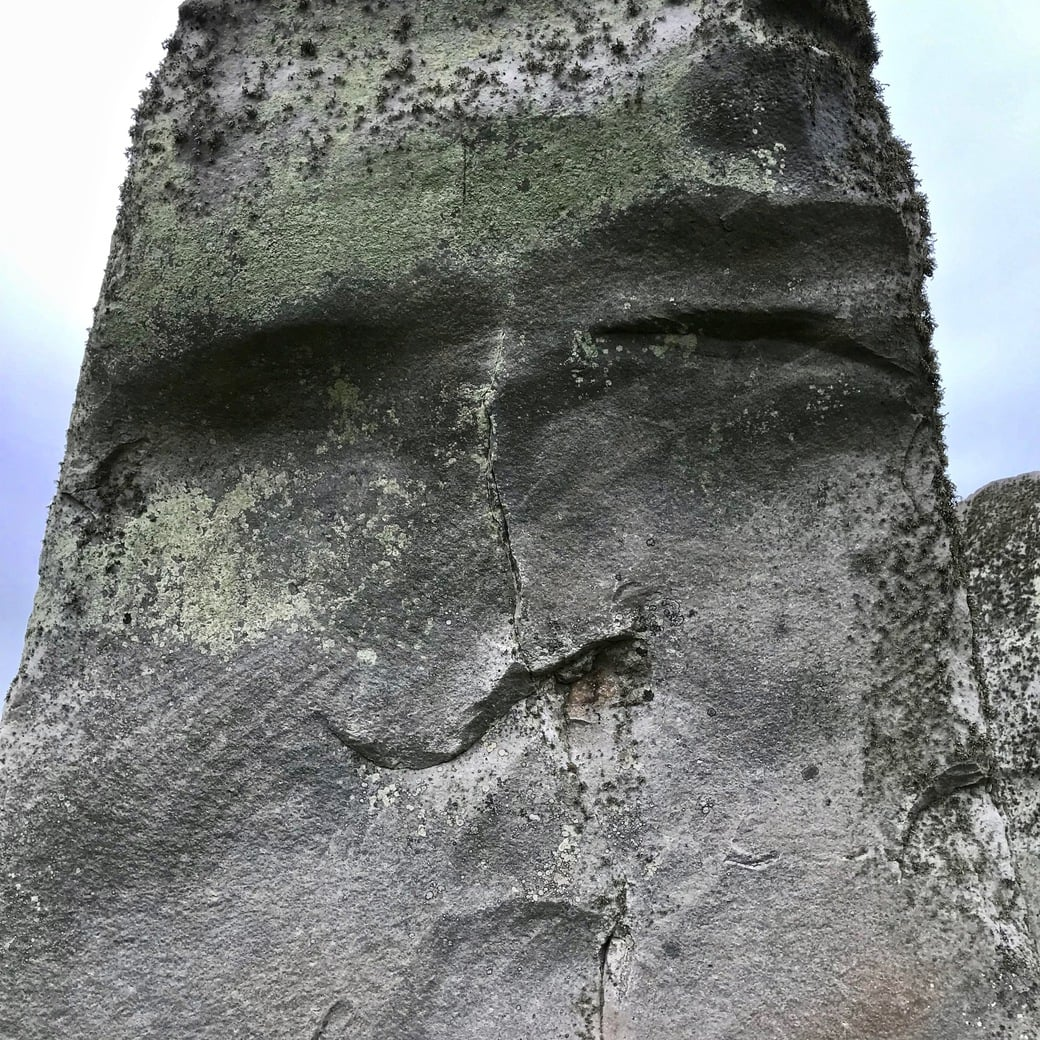 Human face on Stonehenge