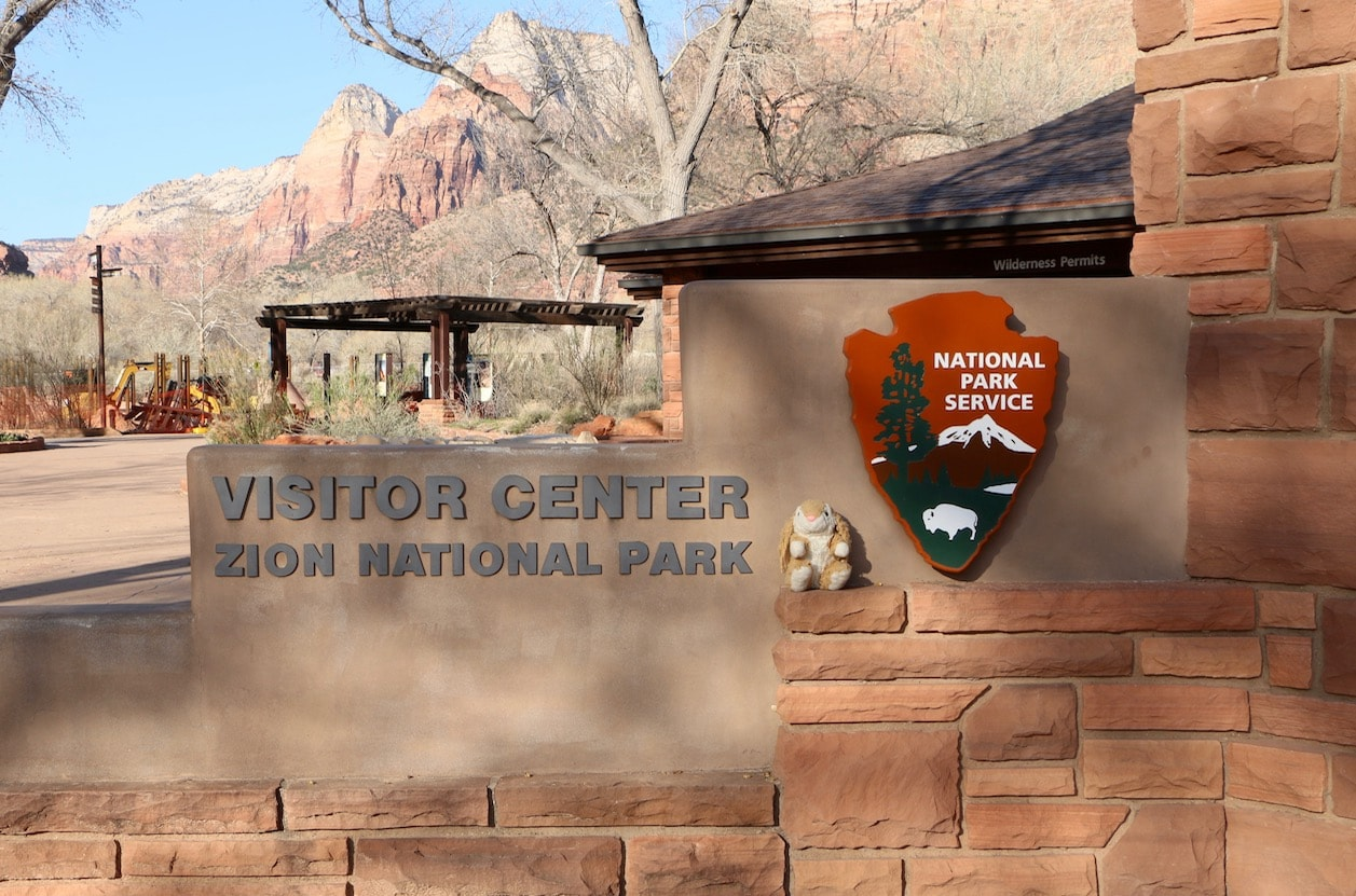 Bunny at Zion NP Visitor Center