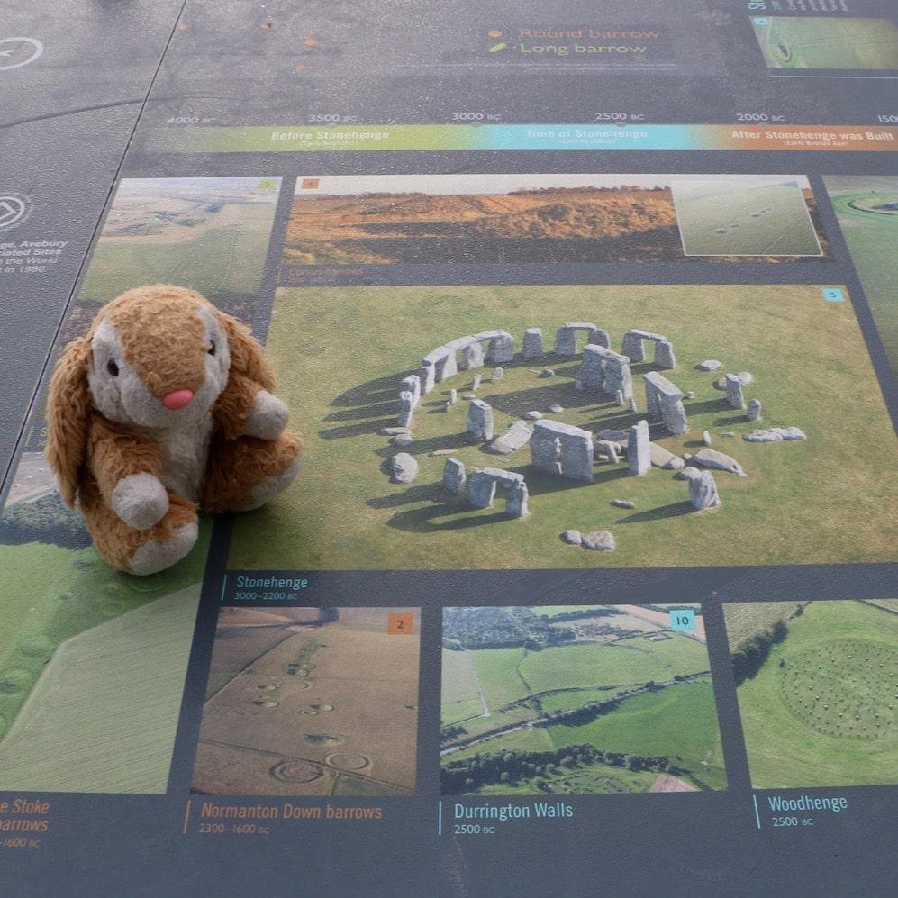 Bunny at Stonehenge visitor centre