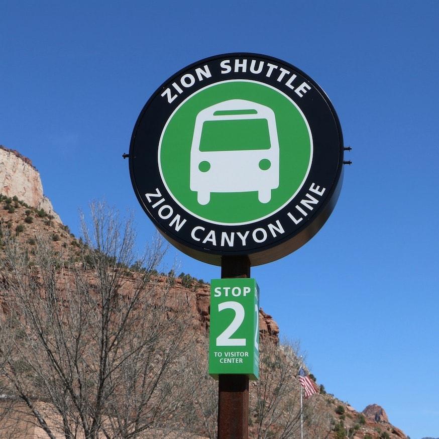 Shuttle bus inside Zion NP