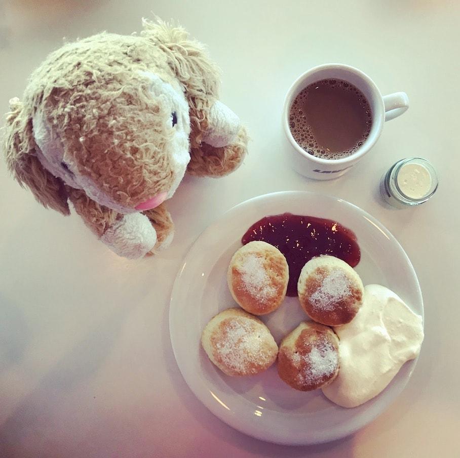 Scones with clotted cream!!