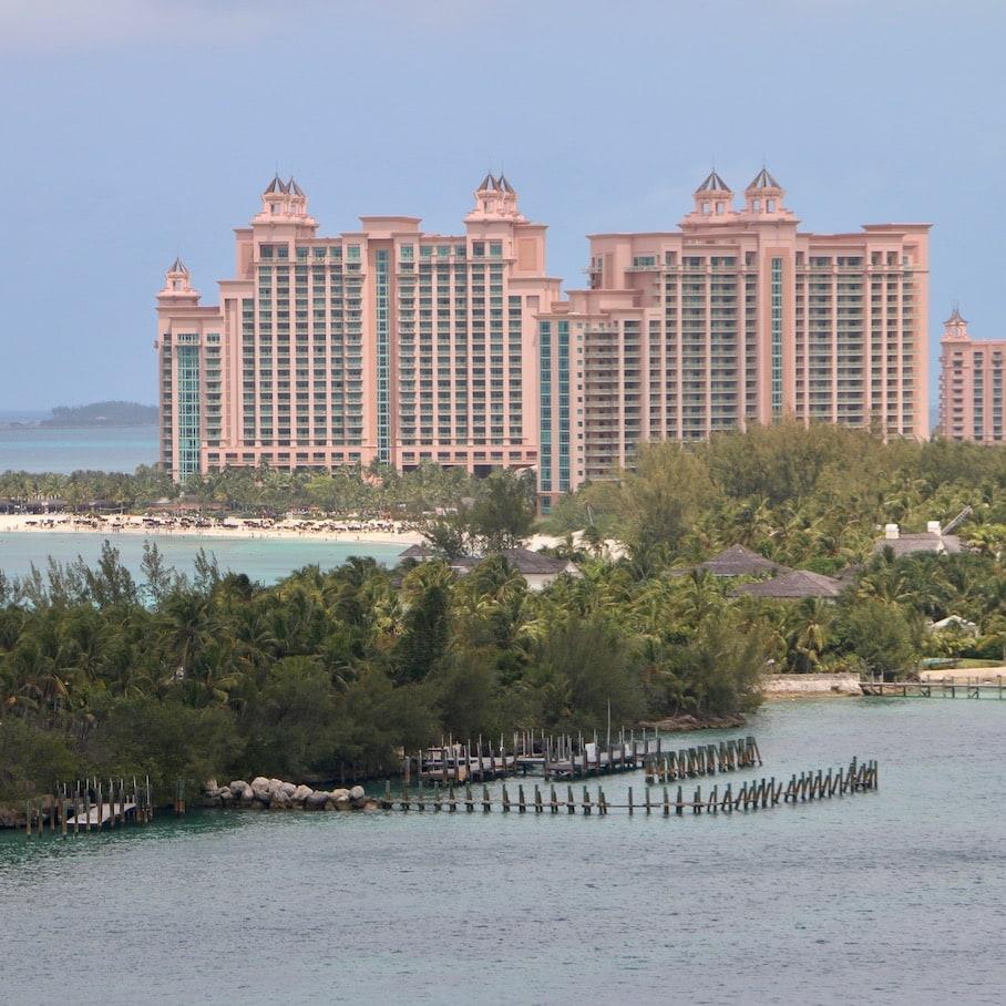 The famous resort in Nassau