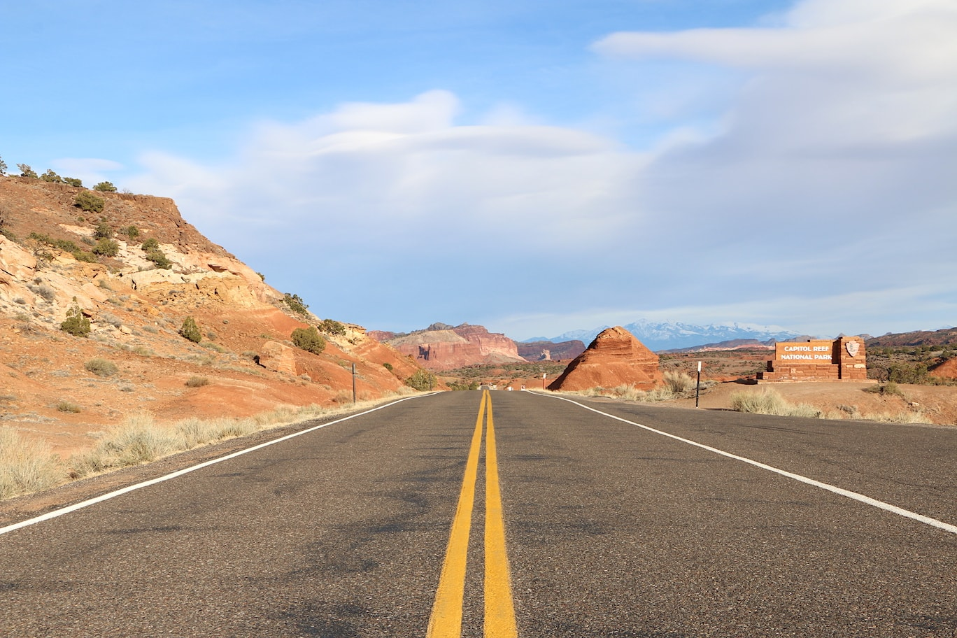 Driving in Capitol Reef National Park