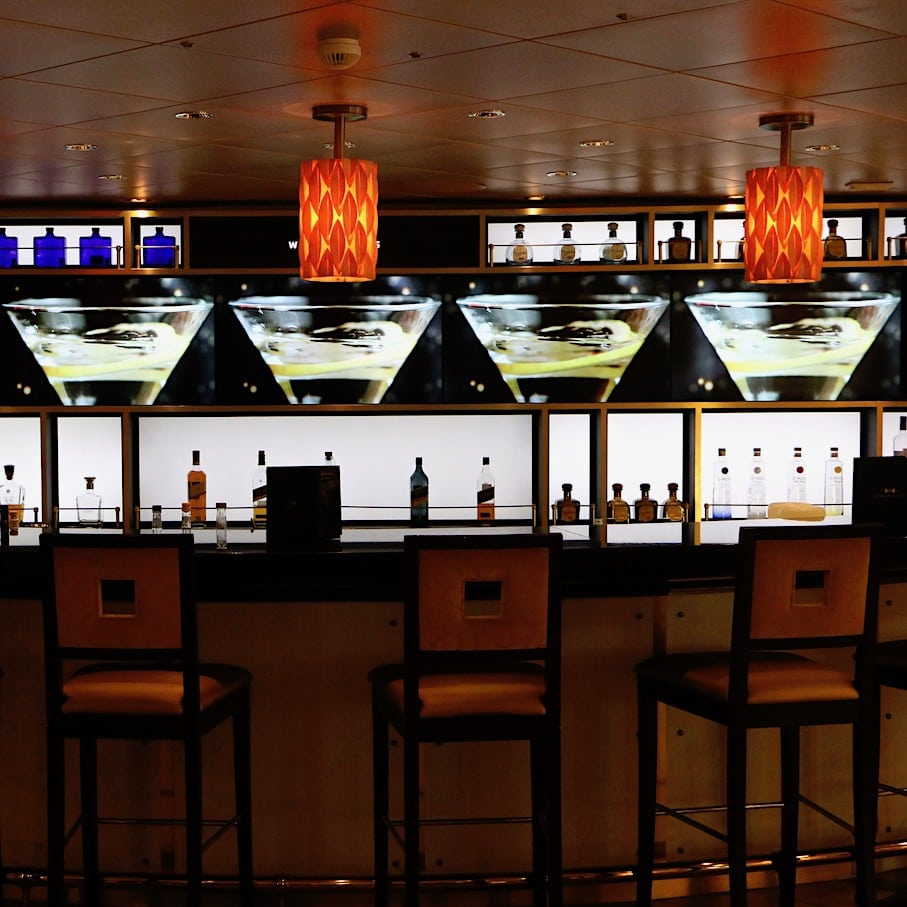 One of the many bars onboard
