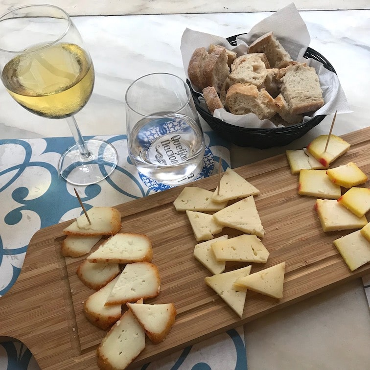 Excellent local cheese at a Lisbon wine bar