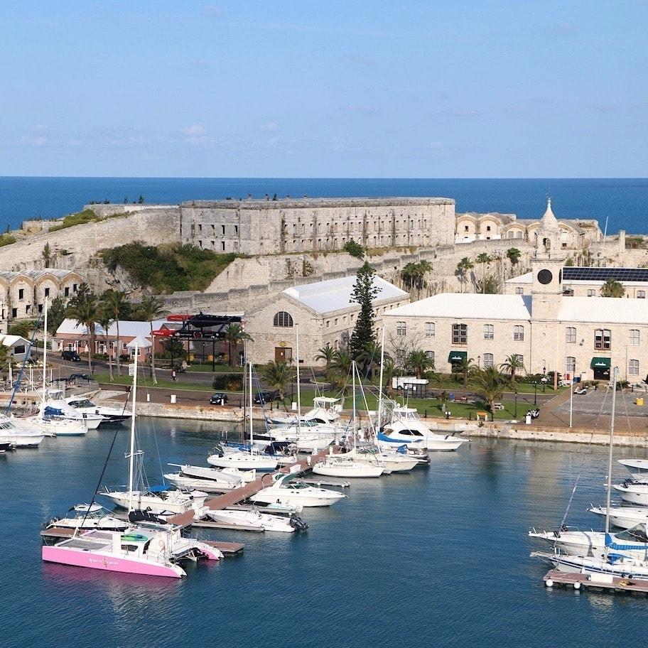 Beautiful port in Bermuda