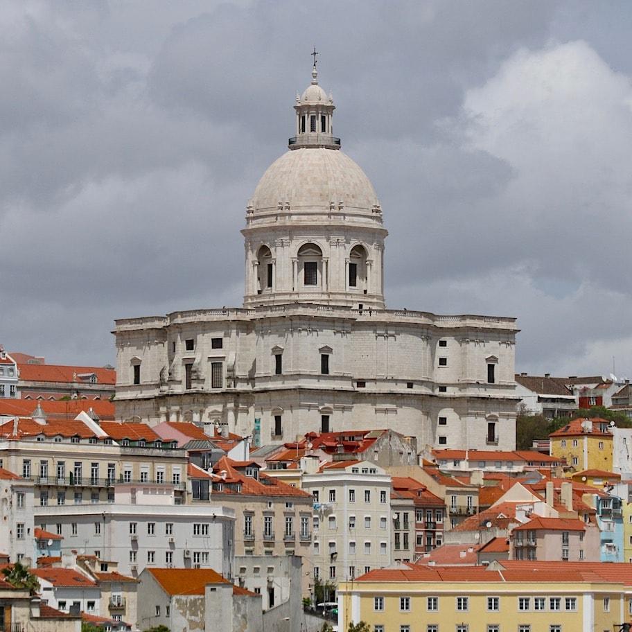 Lisbon skyline as seen from the ship