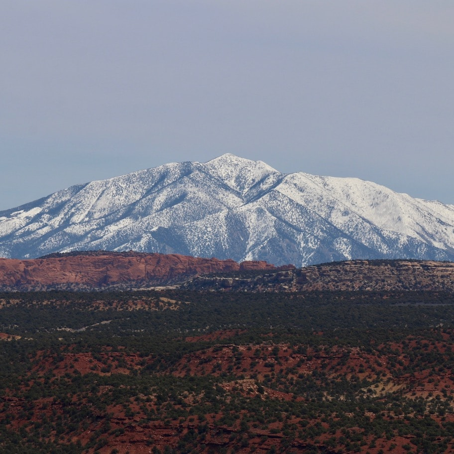 Mountain view from the Burr Trail