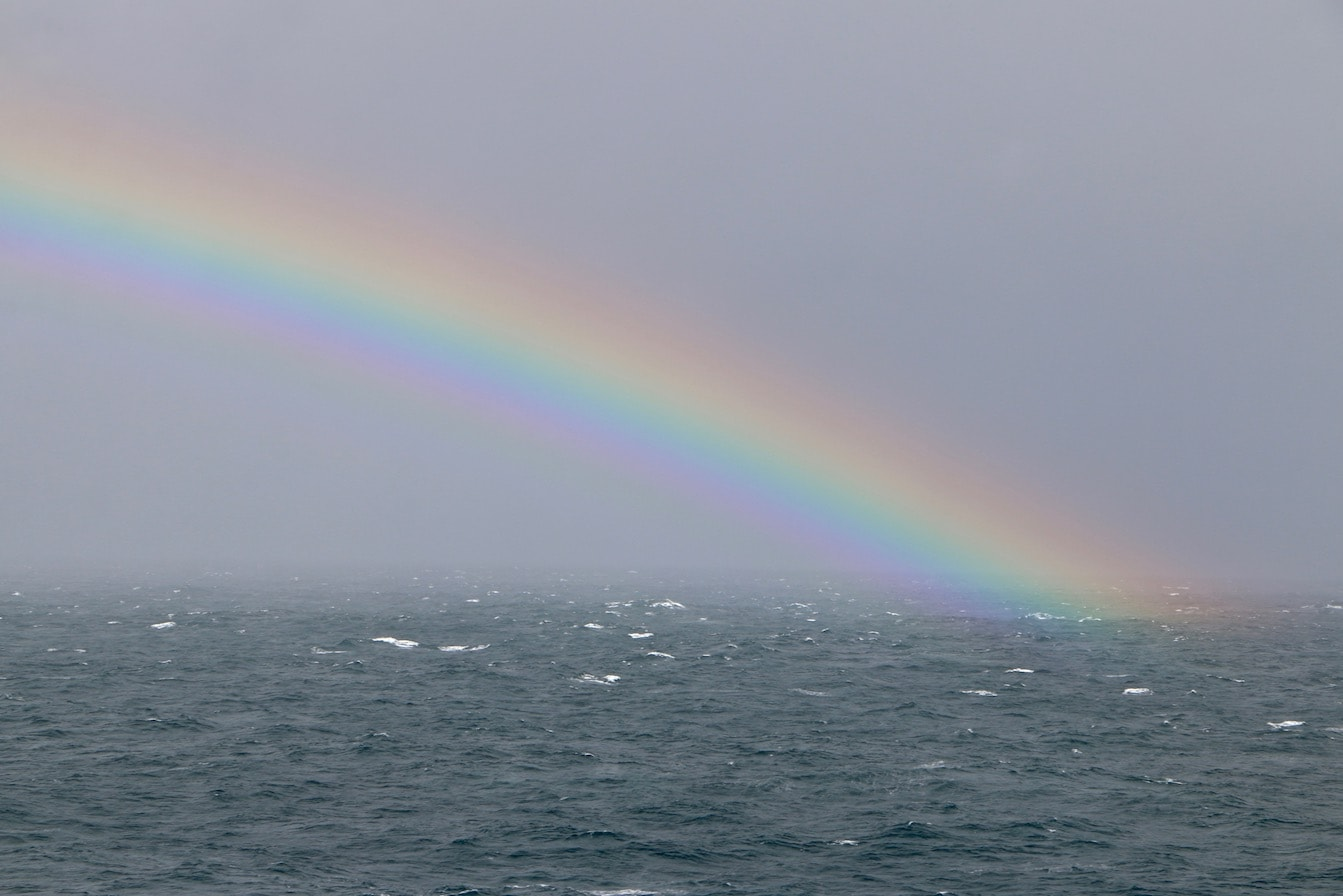 Bad weather but lovely rainbow