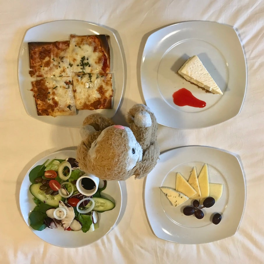 Room service was a life saver