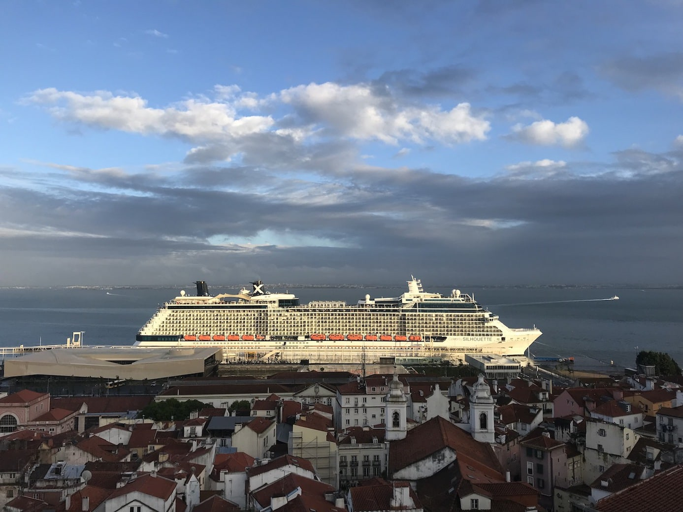 Celebrity Silhouette docked in Lisbon, Portugal
