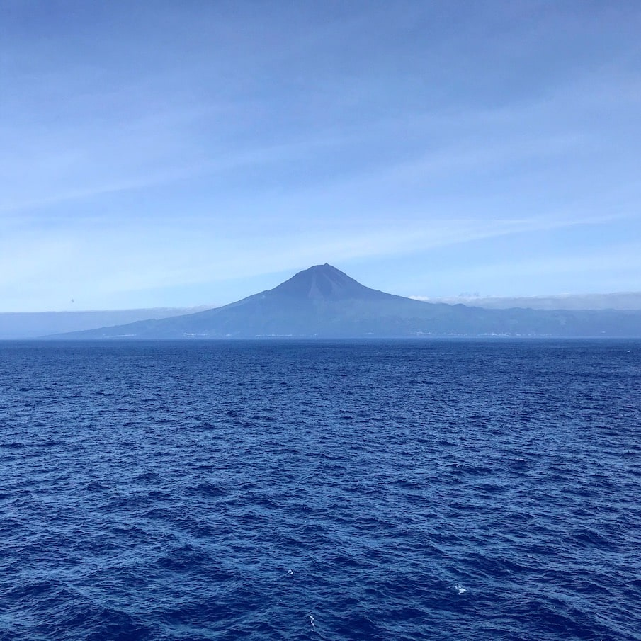 The Azores as spotted from the ship
