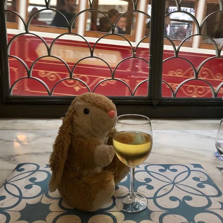 Bunny's favourite hobby: wine-tasting