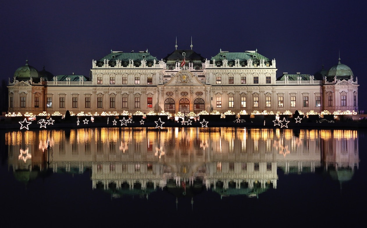 Belvedere Palace at Christmas time