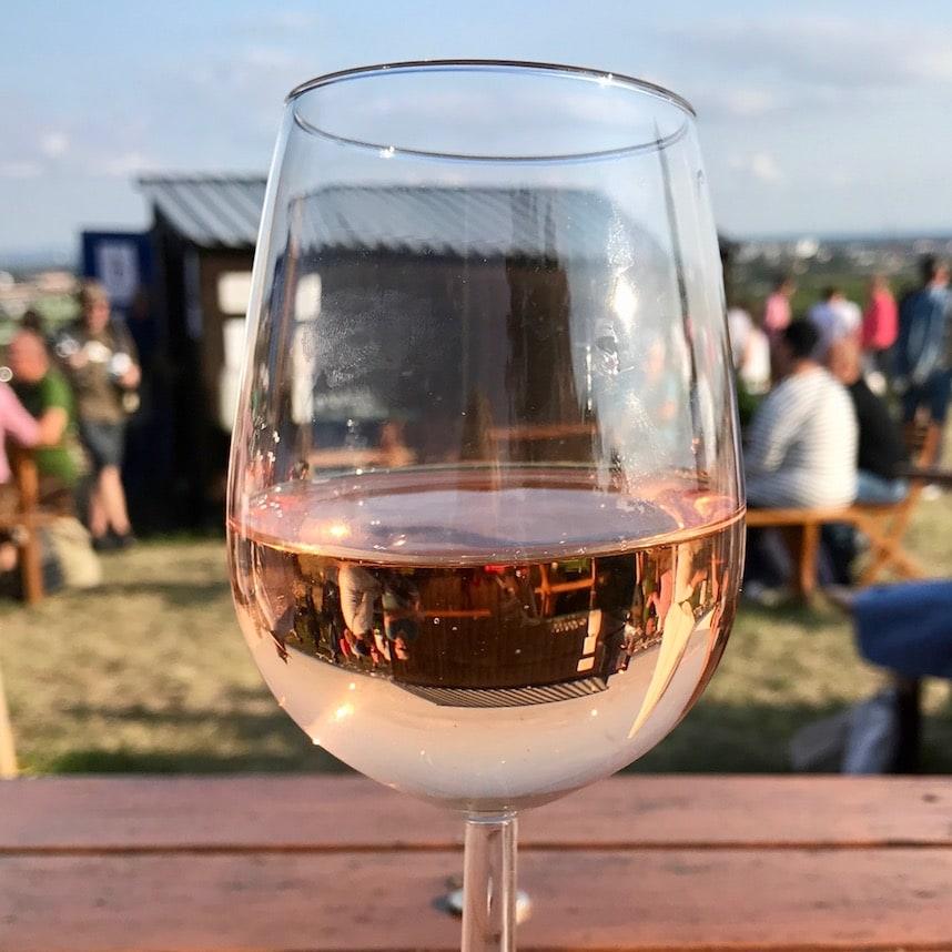 Austrian rose wine