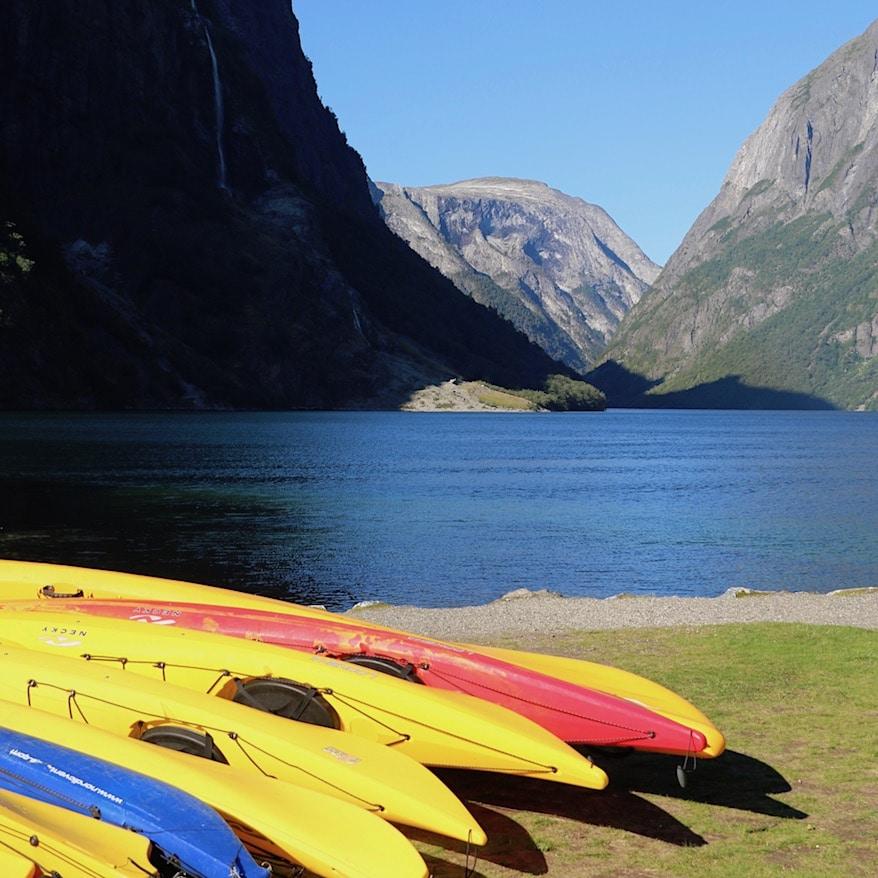 Kayaking in Fjord Norway
