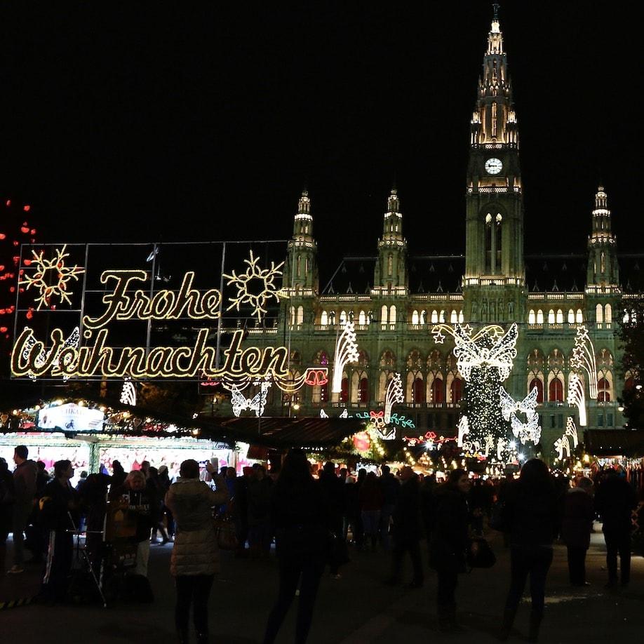 Vienna Rathaus Xmas market