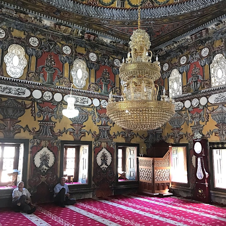 Inside the beautiful Painted Mosque