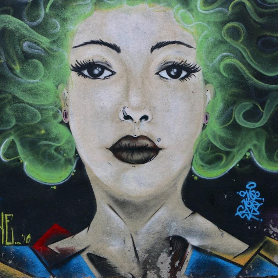 Interesting street art in Bitola