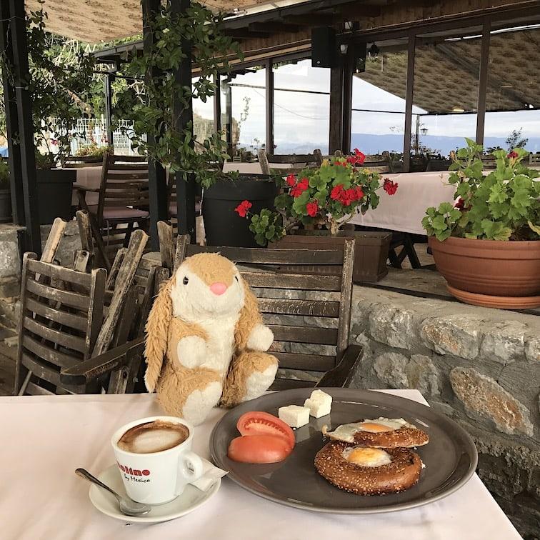 Bunny's breakfast in Ohrid