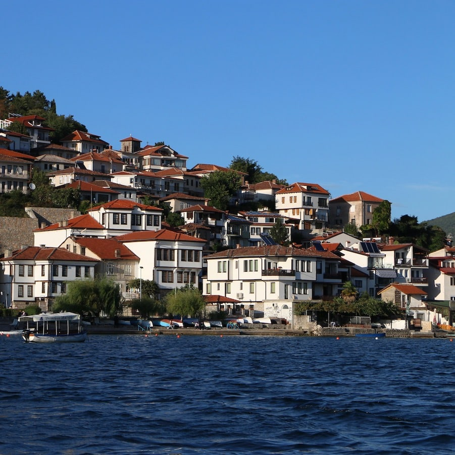 Ohrid as seen from the boat