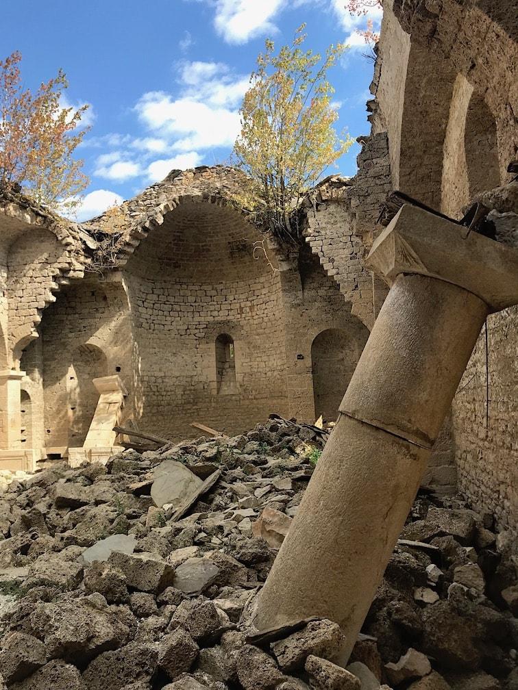 Inside the sunken church